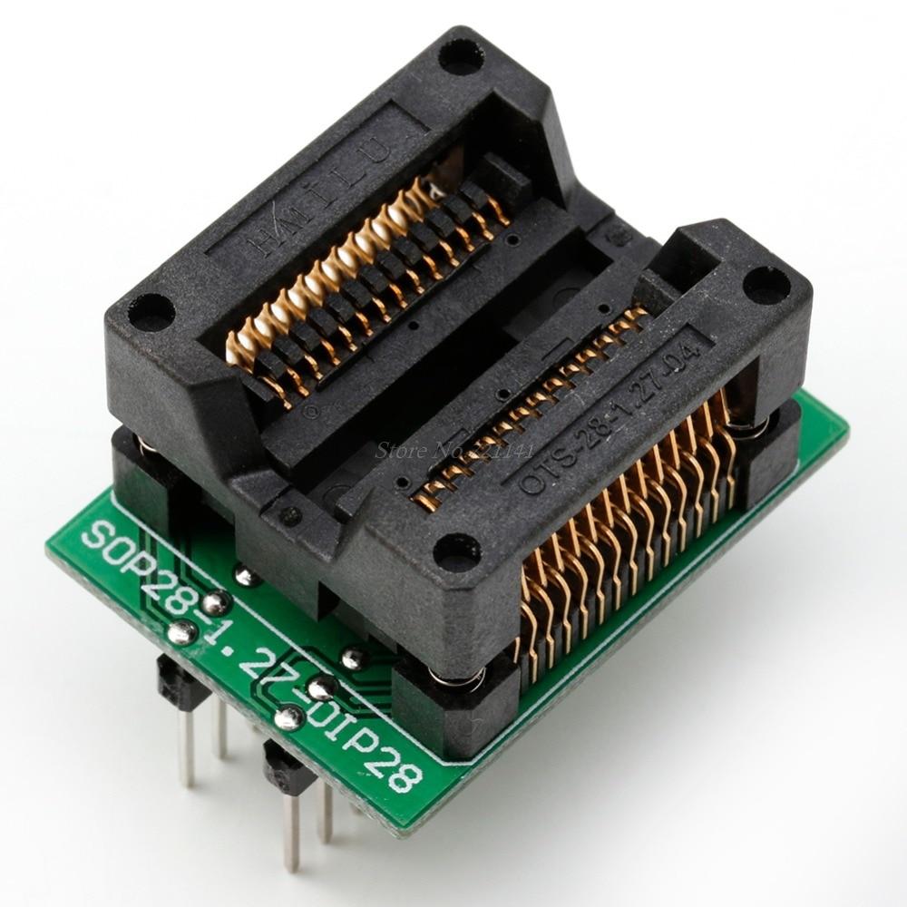 SOP28 To DIP28 Socket Adapter Converter Programmer IC Test Socket New 2018 Dropship