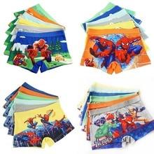 4pcs/lot Boys Underwear Marvel Comic Boxers Underpants Super Hero Spiderman Kids Panties Panty Briefs Infant Teenagers