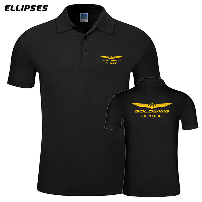 New Men Woman Summer Business & Casual Goldwing GL1800   Polo   Shirt Short Sleeve Breathable Solid Colour Goldwing   Polo   Shirt