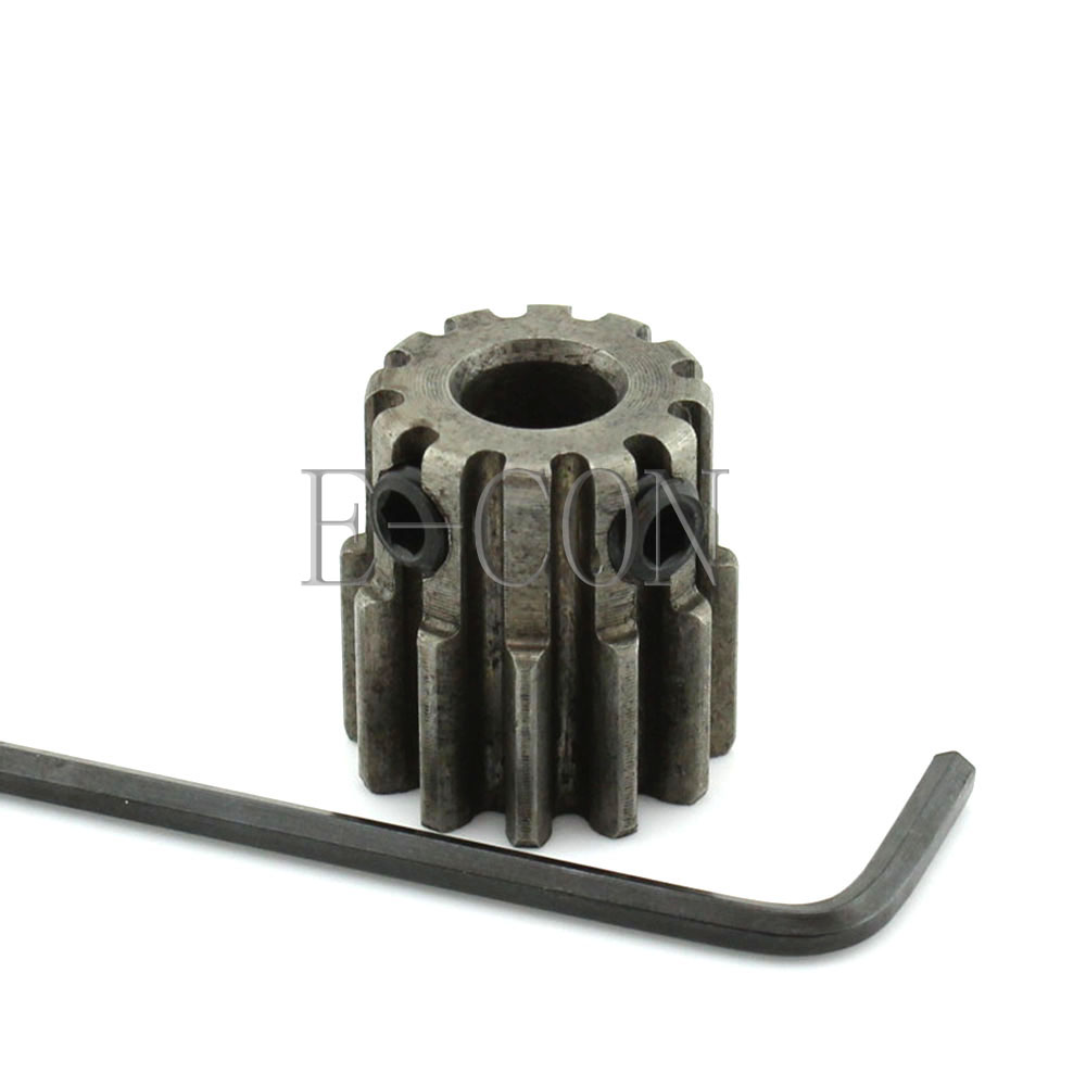 1pcs 1.5M12T 12mm Width 5mm/6mm/6.35mm/7mm/8mm Bore Hole 12 Teeth Module 1.5 Motor Metal Gear Wheel Top Screw