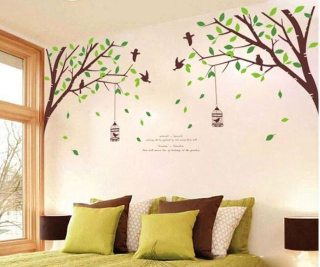 Charmant Free Shipping Extra Large Green Tree Birds Removable Wall Stickers Kids  Nursery Vinyl Decals Wall Sticker