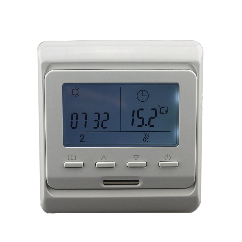 Digital Programmable Floor Heating Temperature Controller 16A AC 220V Room Air Thermostat Regulator with LCD Backlight 220v lcd programmable electric digital floor heating room thermostat blue backlight weekly warm floor controller