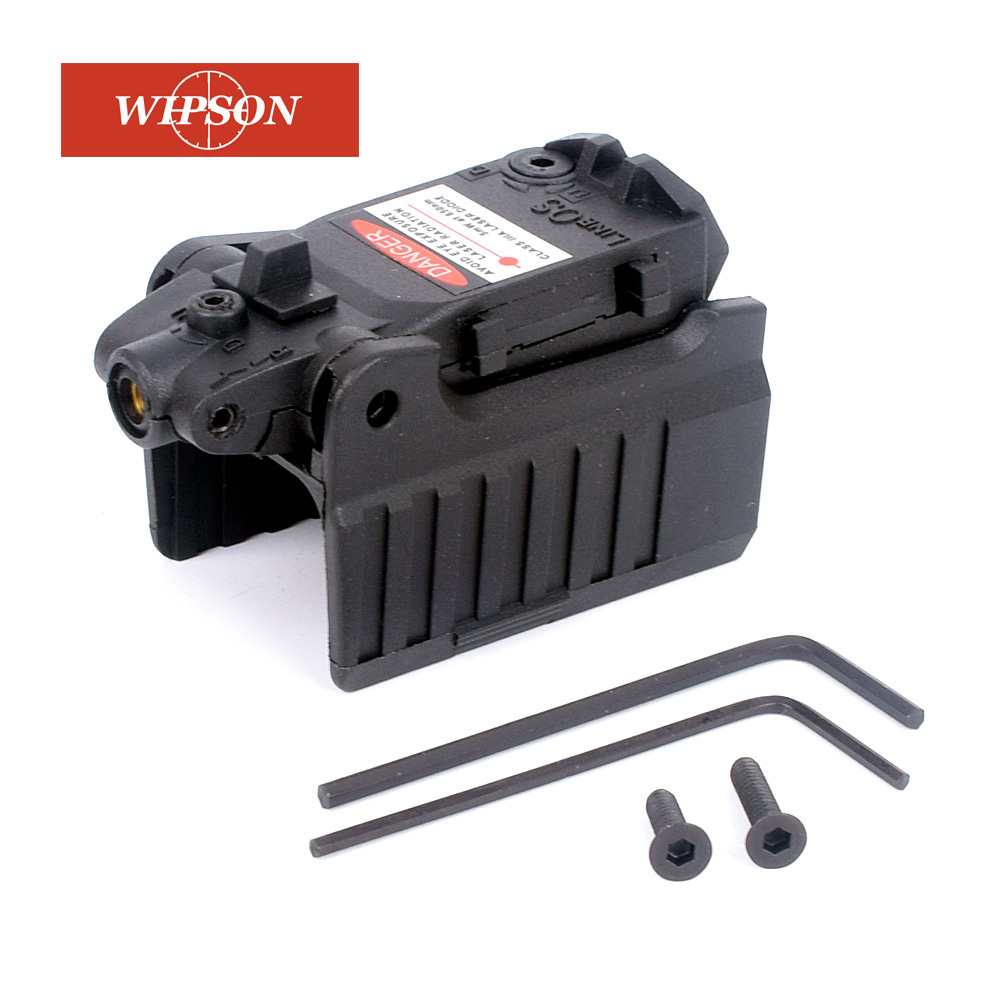 WIPSON Tactical Glock Laser Sight Rear Red Laser Aiming Fit Airsoft Glock 17 18C 19 22 23 25 26 27 28 31 32 33 34 35 37-1