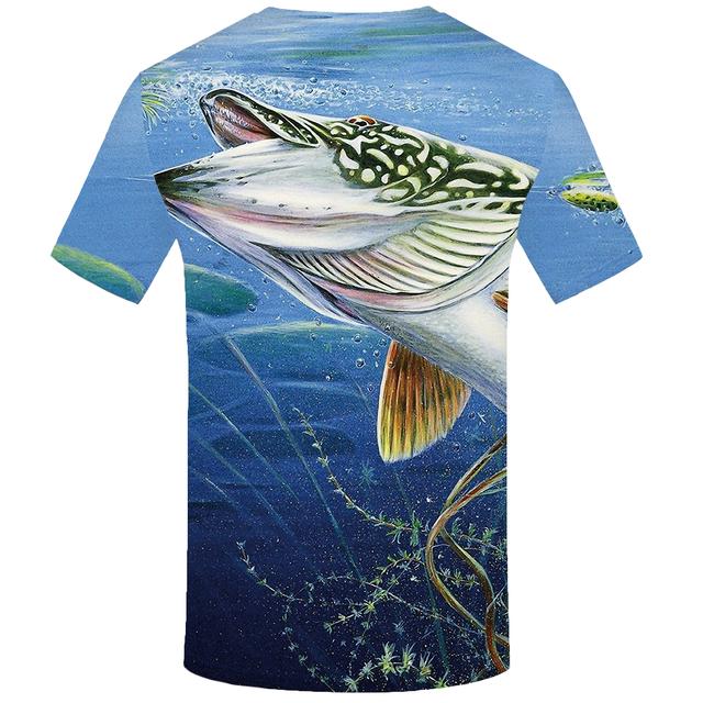 T Shirt Men Ocean 3d T shirt Animal Hip Hop Tee Fishinger Printed Tshirt