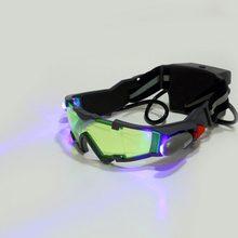 a5a6aabfb0 Gafas de cristal de visión nocturna LED ajustables para motocicleta,  motocicleta, carreras, caza, gafas con luz abatible a prueb.