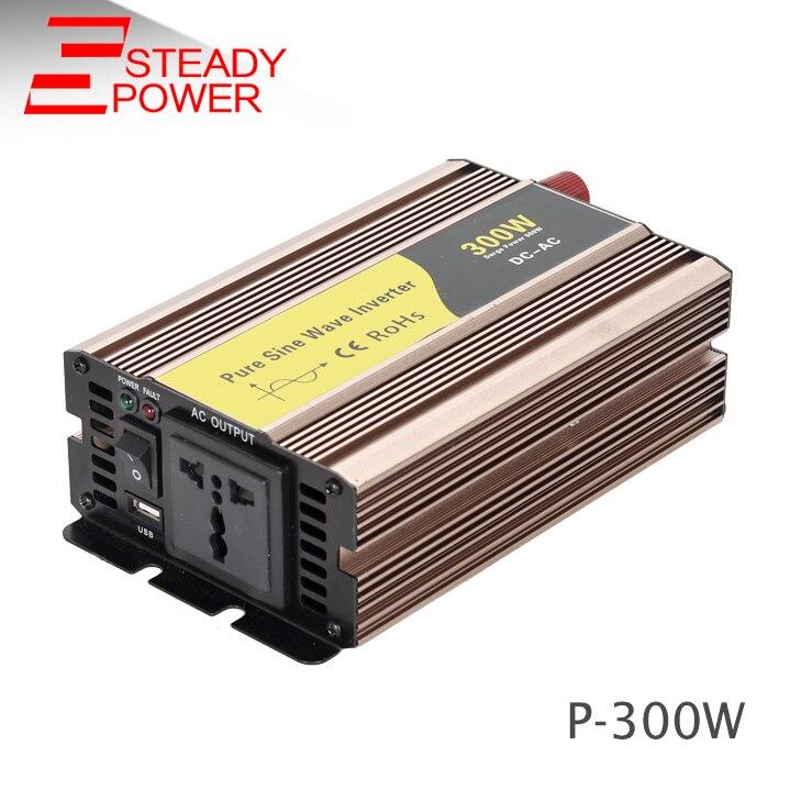 Профессиональный производитель преобразователь вне сети 220 В 300 Вт 12 В 24 В 60 Гц 50 Гц Чистая синусоида Инвертор/конвертер