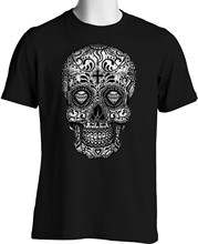 Black Sugar Skull T Shirt Graphic Tattoo dia los Muertos Small to 6XL and Tall Women tshirt(China)