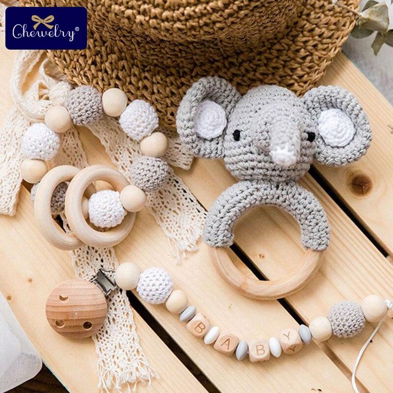 Pince de dentition en bois pour bébé | 1 ensemble/3 pièces, landau, berceau, activité bébé, perles Silicone, hochet bébé, Clip de sucette, chaîne pour jouets poussette