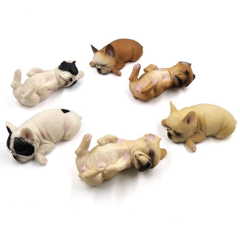 Aves da Fazenda Pequeno Filhote de Cachorro bonito Simulação animais modelo figura estatueta estátua home decor Presente Para As Crianças Crianças brinquedos de plástico
