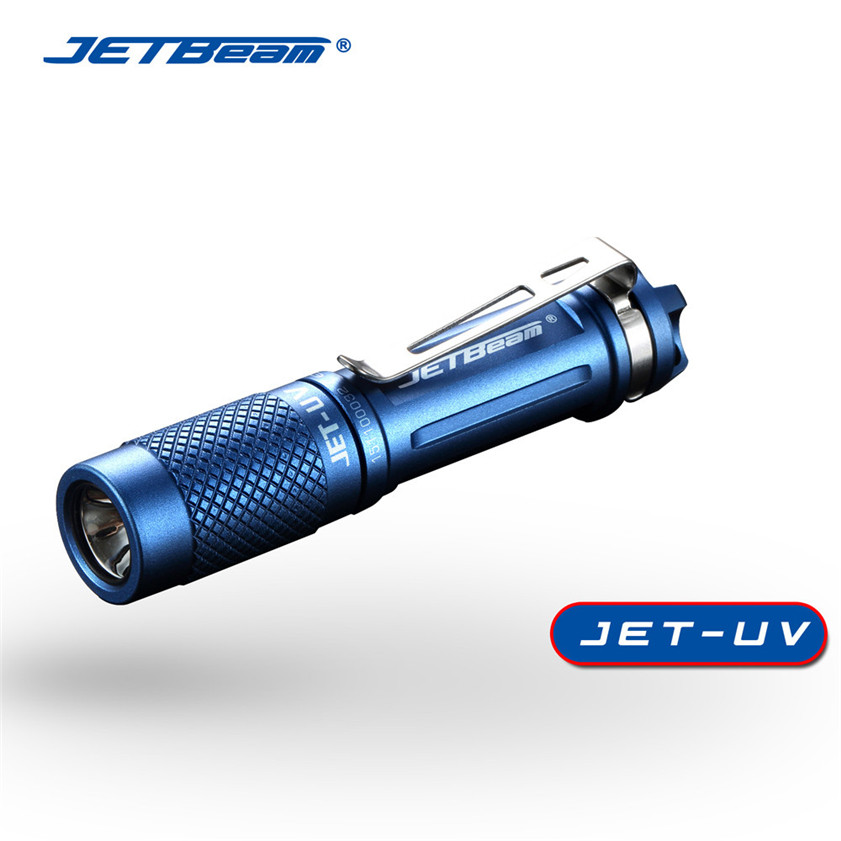 Super JETBeam JET UV CREE 3535 UV Ultraviolet 365nm Money Detector Flashlight Blue 170130