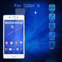Película protectora de pantalla de vidrio Templado Premium 2.5D 9 H para Sony Xperia X Dual F5122 F5121 templado caso