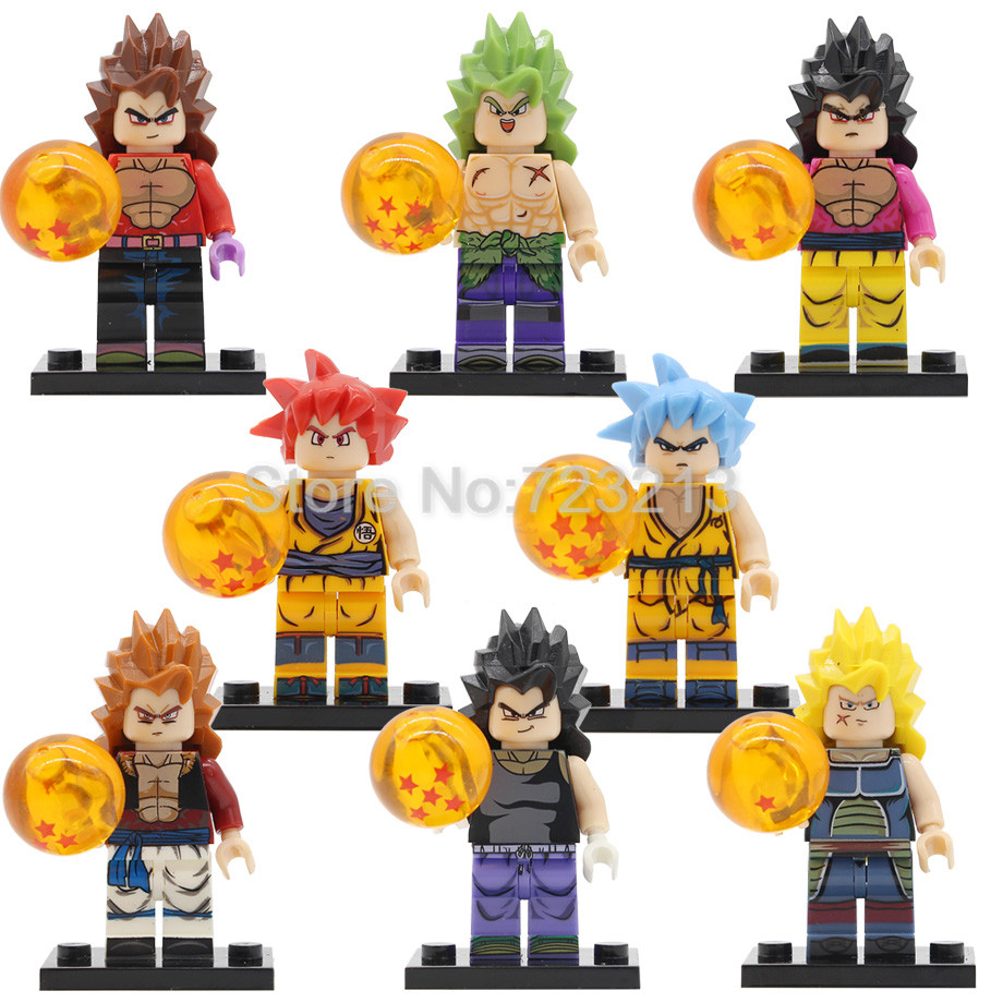 Model Building Blocks Single Anime Legoingly Dragon Ball Z Trunks Sword Goku Gogeta Vegeta Burdock Anime Model Kit Building Blocks Toys For Children