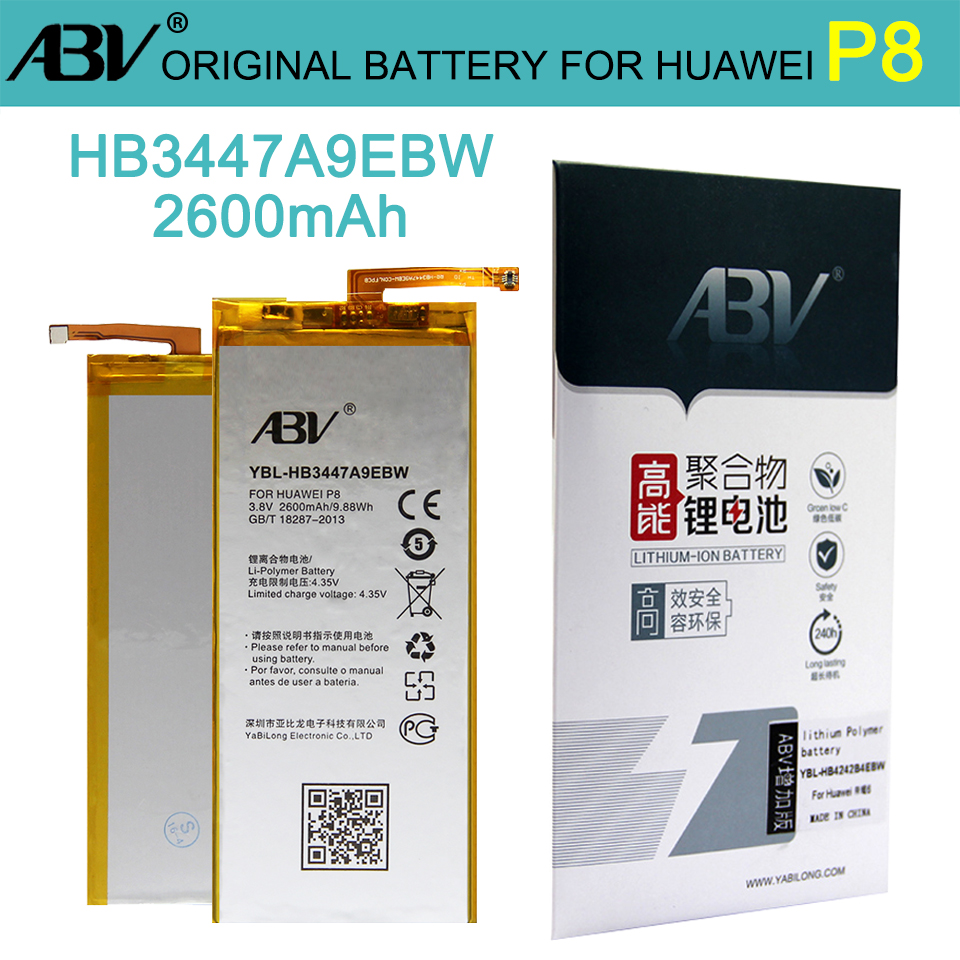 ABV Battery Huawei HB3447A9EBW Replacement Original For Ascend P8 High-Quality