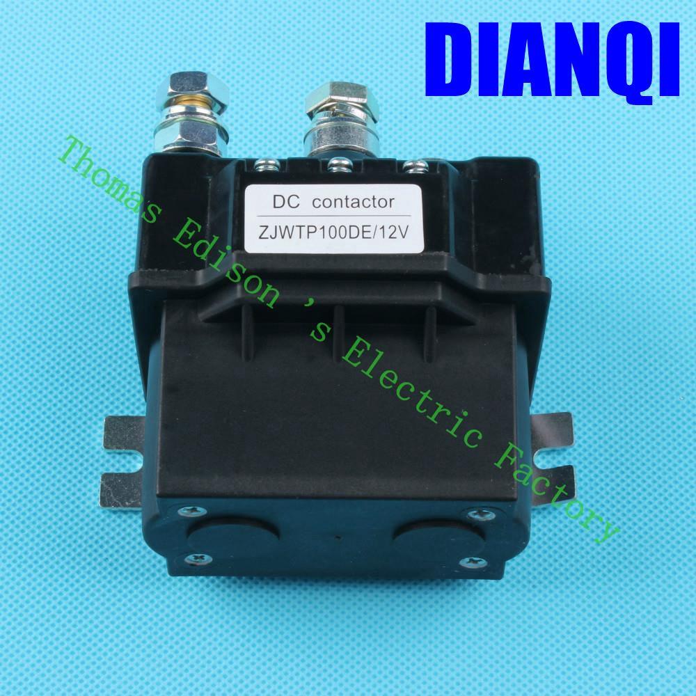 ZJWTP100DE ZJW100A SW80 contactor12V 24V 36V 48V 60V 72V contactor, dc contactor for electrical winch k400 good quality new lp2k series contactor lp2k06015 lp2k06015md lp2 k06015md 220v dc