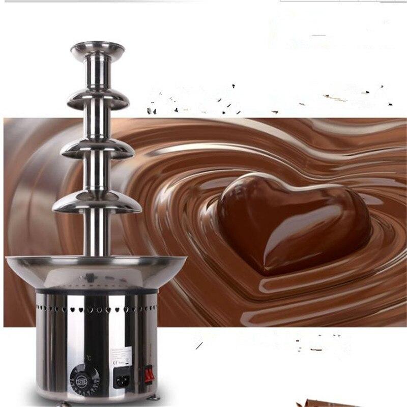 4 niveaux 60 cm 304 # acier Inoxydable fontaine de Chocolat machine D20096 pour société Commerciale et la maison utilisée,