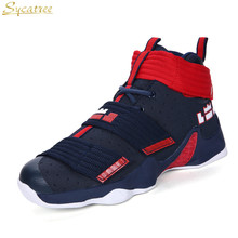 new products 76f10 a2b04 Sycatree Unisex Basketball Shoes Men Women High Top Ankle Boots Sneakers  Lebron James Lovers Shockproof basket
