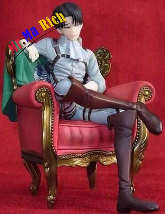 New Arrival Japanese Anime Attack On Titan Levi Ackerman Sitting Sofa Ver Pvc Model Action Figure 15cm Collection Doll Brand New Toys & Hobbies