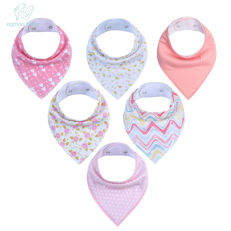 6Pcs Baby Bandana Drool Bibs Super Absorbent 100% Organic Cotton Perfect Baby Shower Gift Se for Drooling Teething and Feeding6Pcs Baby Bandana Drool Bibs Super Absorbent 100% Organic Cotton Perfect Baby Shower Gift Se for Drooling Teething and Feeding