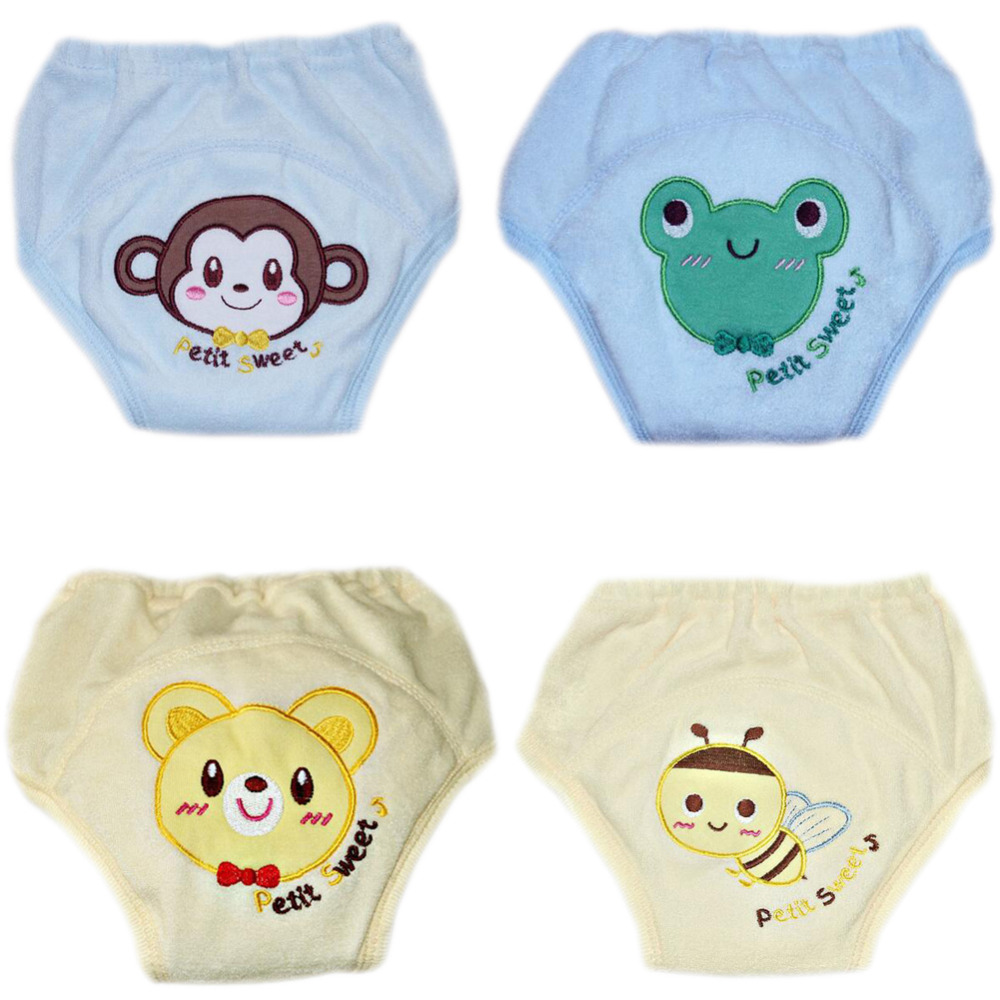 4pcs Training Pants 5-Layers Baby Nappies Cloth Diaper Child Baby Swim Diaper Reusable Toddler Nappy Changing For Autumn Winter