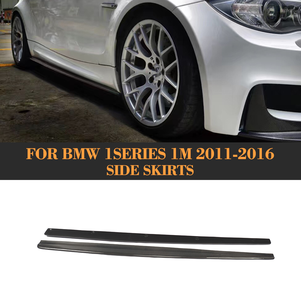 1 Series Carbon Fiber Car Auto Racing Side Body Skirt skirts Apron for BMW E82 M 1M 2011 - 2016 Car Style