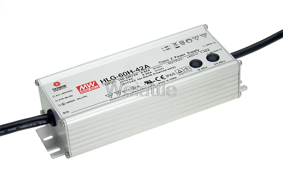MEAN WELL original HLG-60H-36 36V 1.7A meanwell HLG-60H 36V 61.2W Single Output LED Driver Power Supply original mean well led driver hlg 60h 36a 61 2w 36v 1 7a adjustable ac dc power supply with pfc