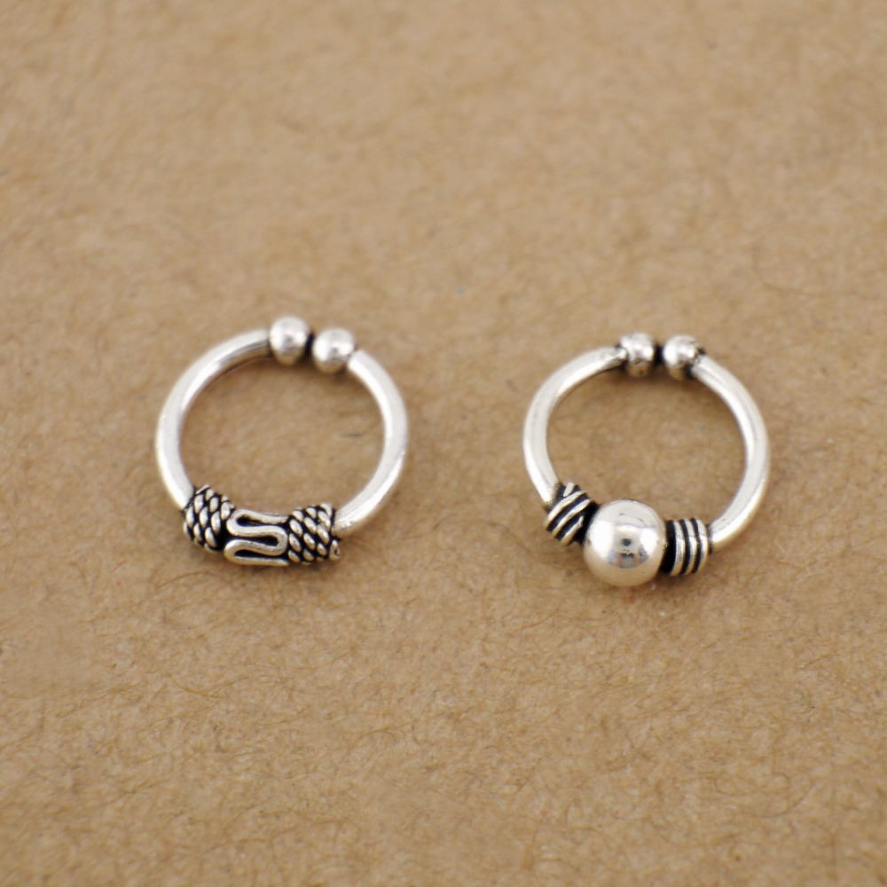 925 Sterling  Silver Clip Brand New !! On  Nose  Hoop  Ring !