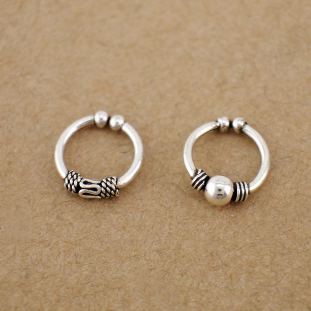 ff5135bbe 1PC 925 Sterling Silver Bali Ear Clip Cuff Earring Nose Ring Jewelry A1563