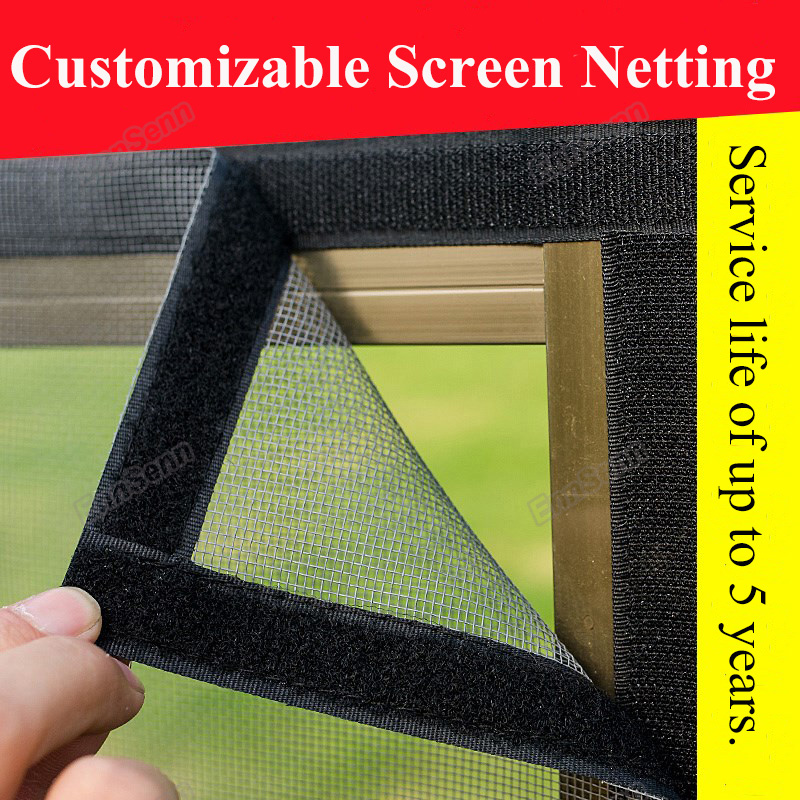 DIY Customizable Nano Invisible Fly Mosquito Screen Net Mesh For Door Window, Protect Baby & Family From Insect And Bug