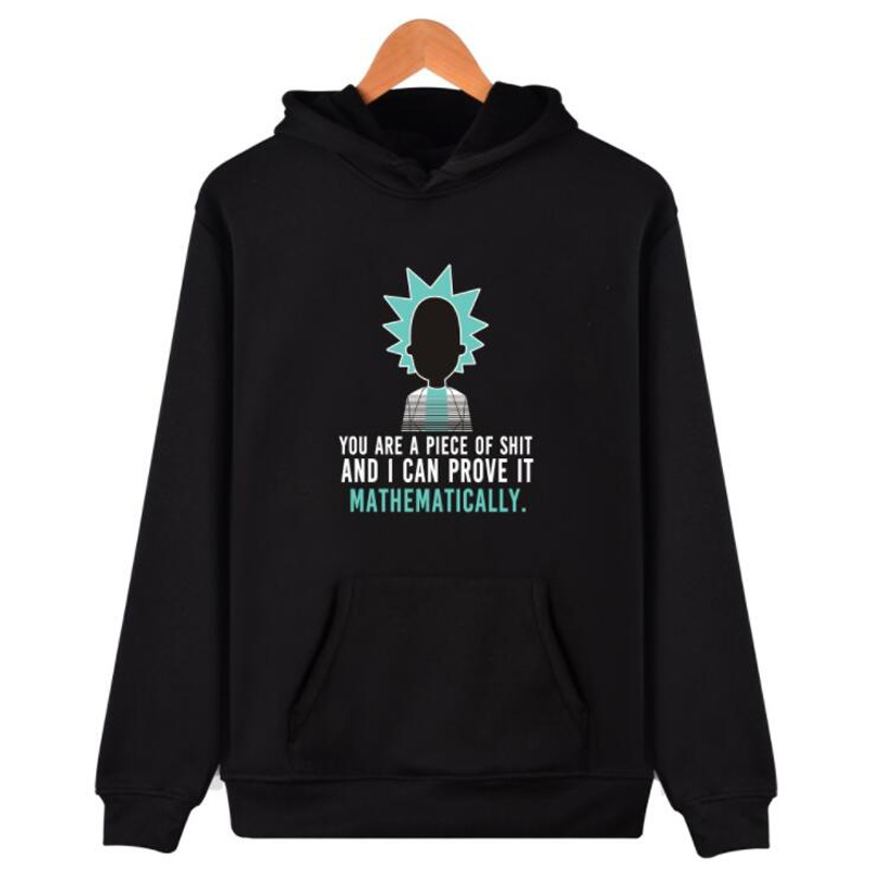 Autumn Winter Anime Cool Rick And Morty Oversized Hoodie Men Peace Among Worlds Folk Hip Hop Hooded Sweatshirt Couple Clothes