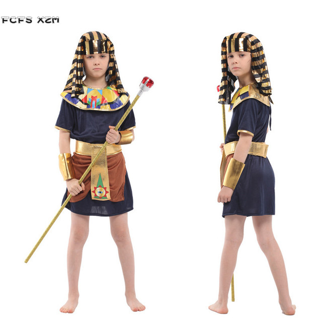 New M-XXL Boys Halloween Egyptian Pharaoh Costume Kids Warrior King Cosplay Childrenu0027s day Purim  sc 1 st  AliExpress.com & New M XXL Boys Halloween Egyptian Pharaoh Costume Kids Warrior King ...