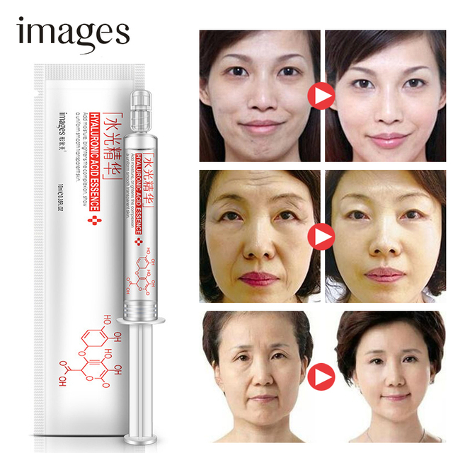 Hyaluronic Acid Serum Anti-Wrinkle Anti Aging Moisturizing Whitening smearing instead of injection  100% pure plant extract
