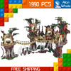 1990pcs Lepin 05047 Star Wars Ewok Village DIY Model Building Blocks Kit Unique Bricks Toys Compatible