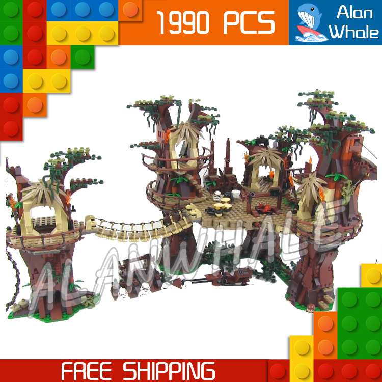 1990pcs New Space Wars Ewok Village 05047 DIY Model Building Blocks Kit unique Tree House Bricks Toys Compatible with Lego 499pcs new space wars at dp robots 10376 model building blocks toys gift rebels animated tv series bricks compatible with lego