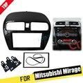 Двойная Din фасция для Mitsubishi Mirage Space Star Attrage Радио стерео панель Установка комплект накладка рамка для лица 2di