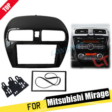 цены Double Din fascia for Mitsubishi Mirage Space Star Attrage Radio Stereo Panel Dash Mounting Installation Trim Kit Face Frame 2di