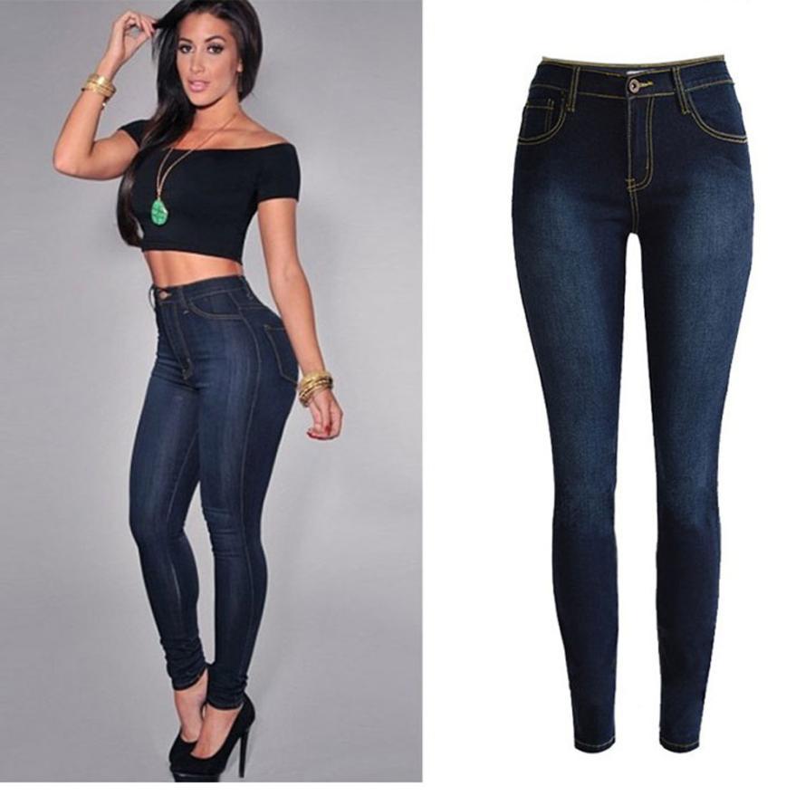 Frauen Kleidung & Zubehör Chamsgend Frauen Denim Dünne Jeans Stretch Bleistift Hosen Dünne Lange Hosen 4j31 * Hosen