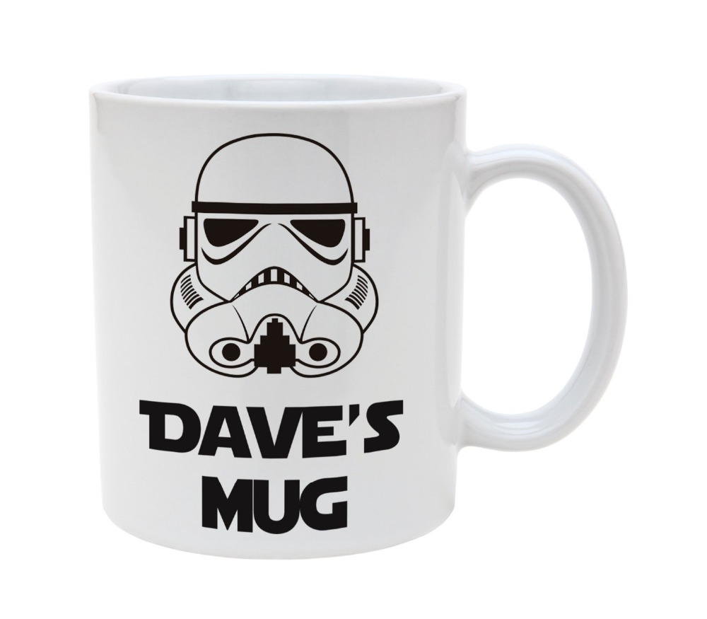 personalised name star wars mugs Tea mugen mug home decal milk wine beer friend gifts novelty cups