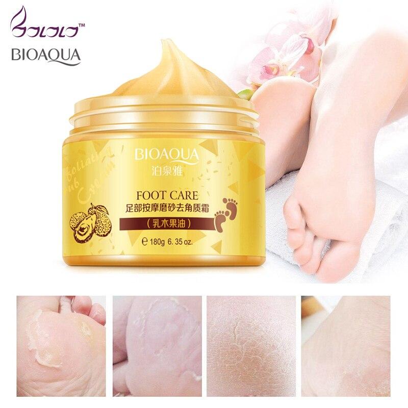 купить BUQUANYA spa massage scrub feet cream moisturizing peeling whitening socks smooth beauty hand foot care for pedicure exfoliating по цене 519.5 рублей