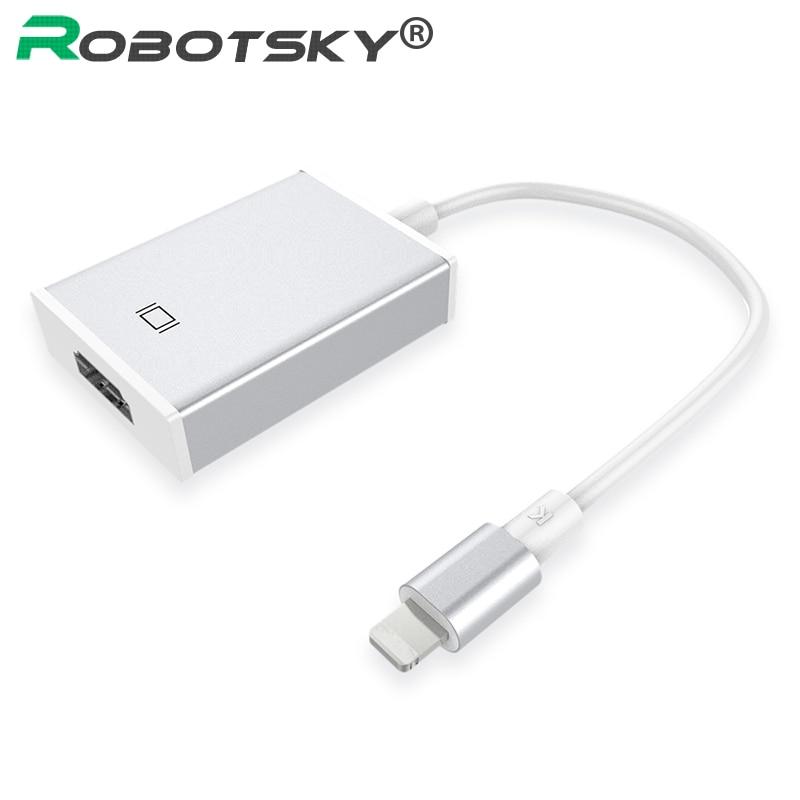 bilder für High Speed 8 Pin Schnellladung Zu HDMI Kabel HDTV AV Adapter Für ios Pad Für iPhone 7 6 6 S Plus 5 5 S hdmi HDTV Adapter