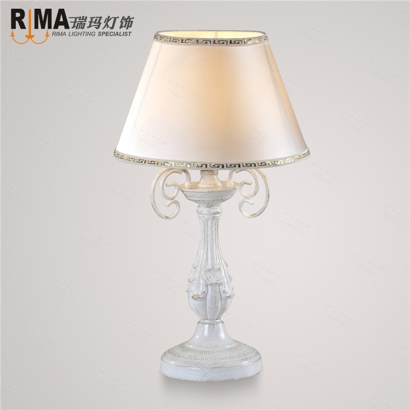 white fabric shade table lamp for bedroom decorative lighting hot sale in table lamps from. Black Bedroom Furniture Sets. Home Design Ideas