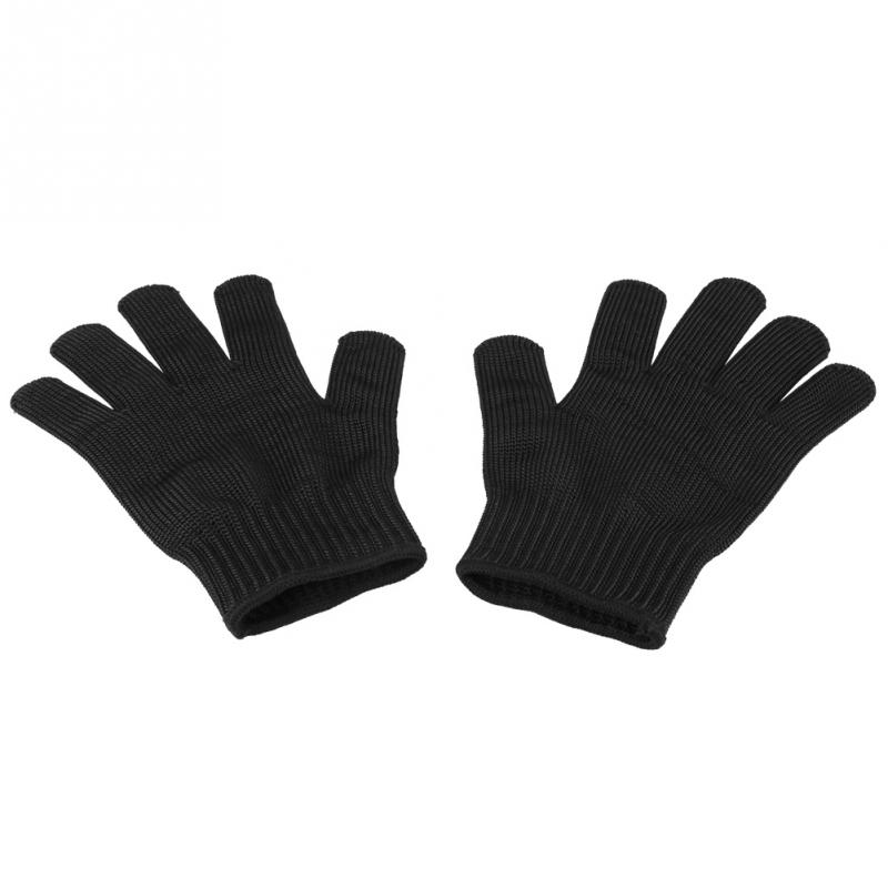 Steady 1pair Anti-cut Gloves Safety Cut Proof Stab Resistant Gloves Elastic Fiber Mesh Butcher Glove Breathable Security Gloves S M L Garden Gloves