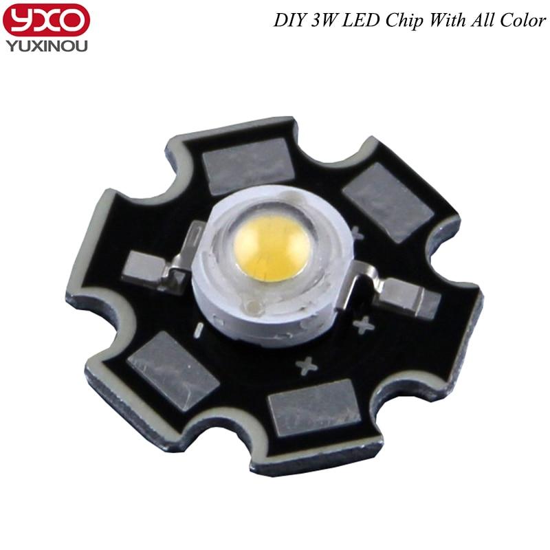1pcs/lot Epistar 3w led chips bulb diode lamp 3000k 6000k 10000k 440nm 620nm 660nm  for aquarium led light led grow light street lamp 60w e40 dc24v 12v taiwan led chips epistar 110 120lm w led light bulb e40