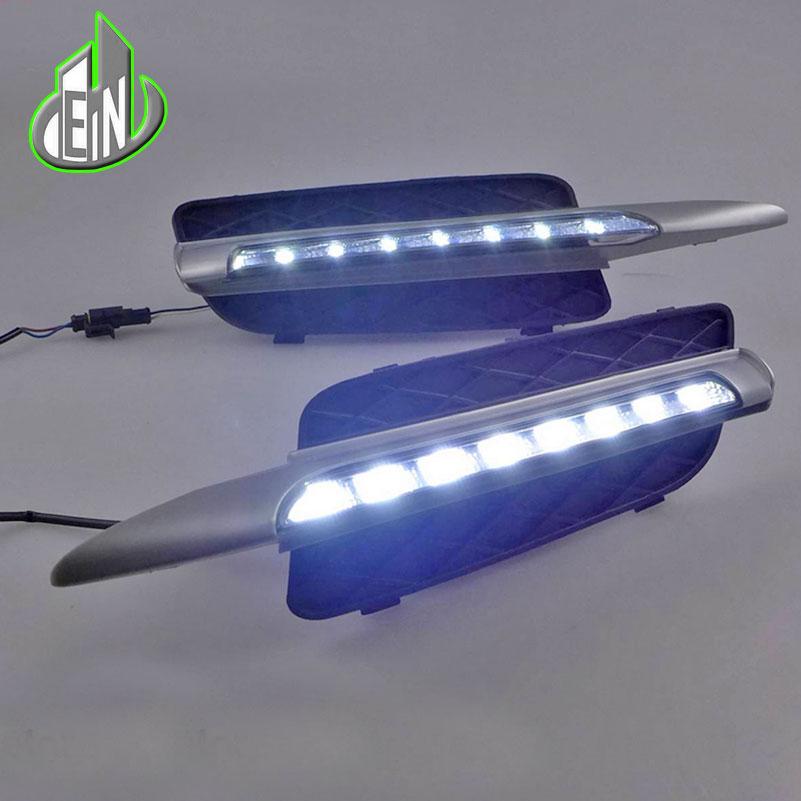 АН ДХО Автомобильный Комплект для BMW Х5 Е70 2007-2010 светодиодные дневные ходовые свет бар супер яркий авто противотуманные фары дневного света Сид DRL свет