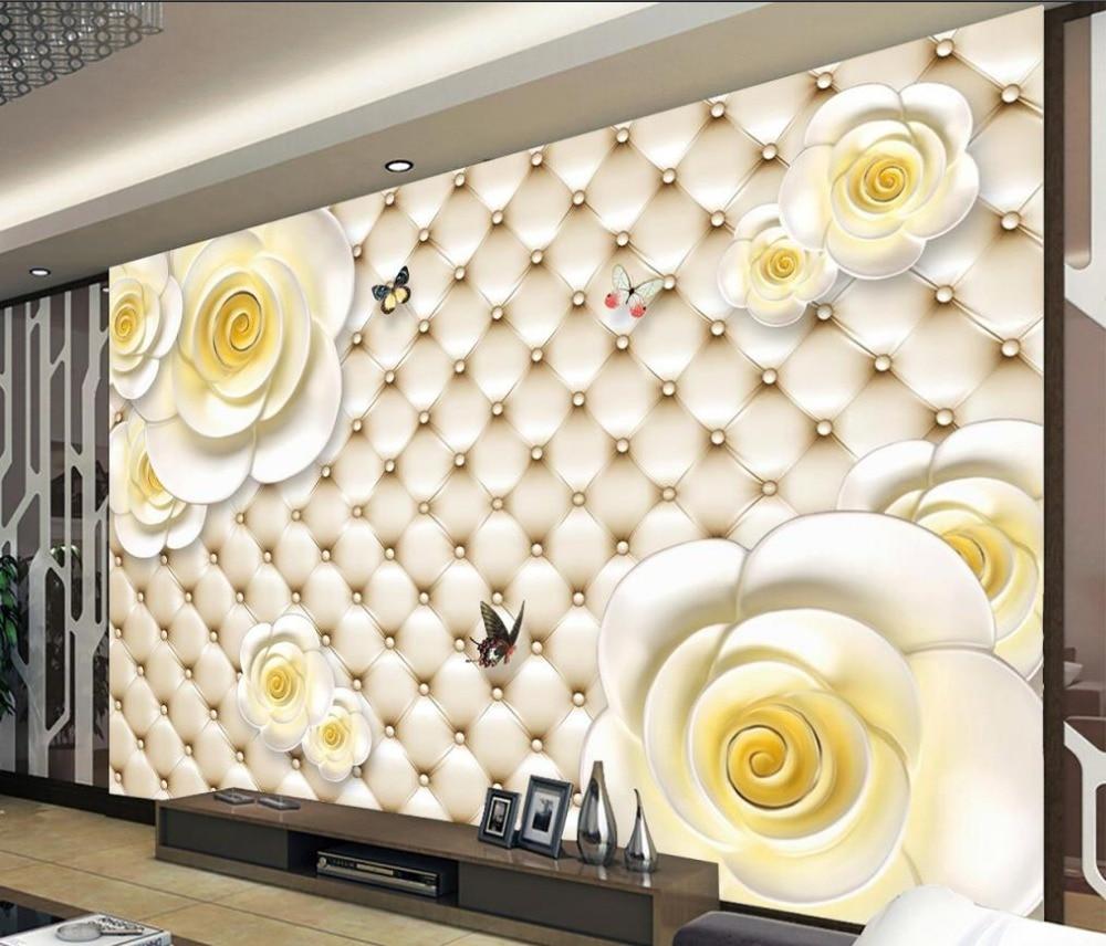 US $13 44 OFF Wall Mural Photo Wallpaper 3D Relief Flower Home Decoration 3d Murals Wallpaper For Living Room Wallpaper For 3d Photo Wallpaper