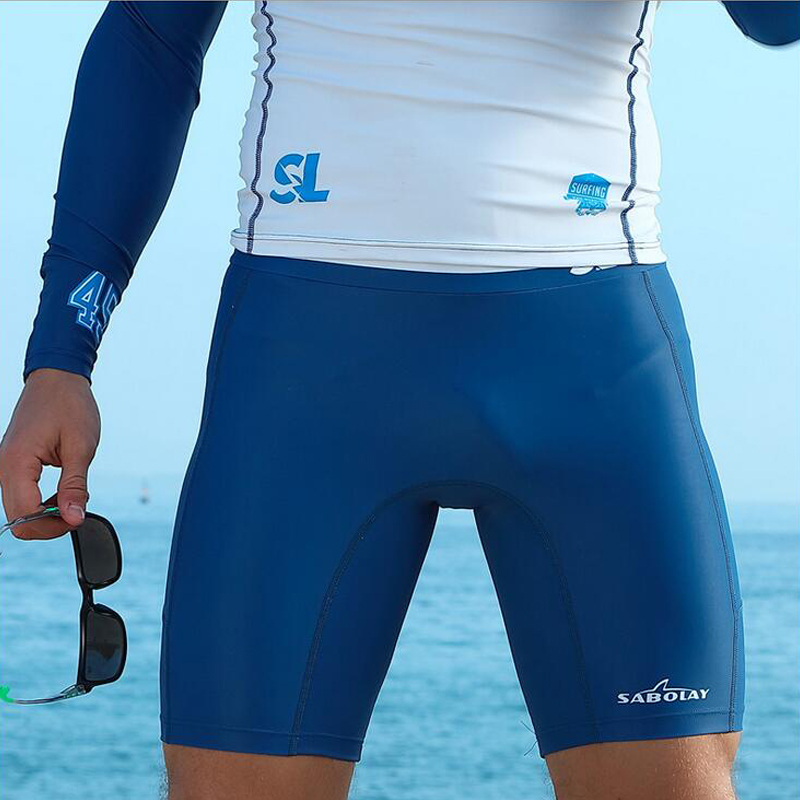 Sabolay Men Short Pants Prevent From Jellyfish Quick Dry Surfing Diving Pants Tights Swim Shorts UV Protection Swimsuit