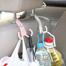 Cute Headrest Hook Car Seat Hanger Cartoon Design Plastic Stand Hanger Organizer Bag Cute Accessories(China (Mainland))