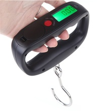 50kg 10g Hanging Scale Fishing Luggage LCD Digital BackLight Balance PocketWeight Scales Kitchen Fishing Tackle Accessory Tool