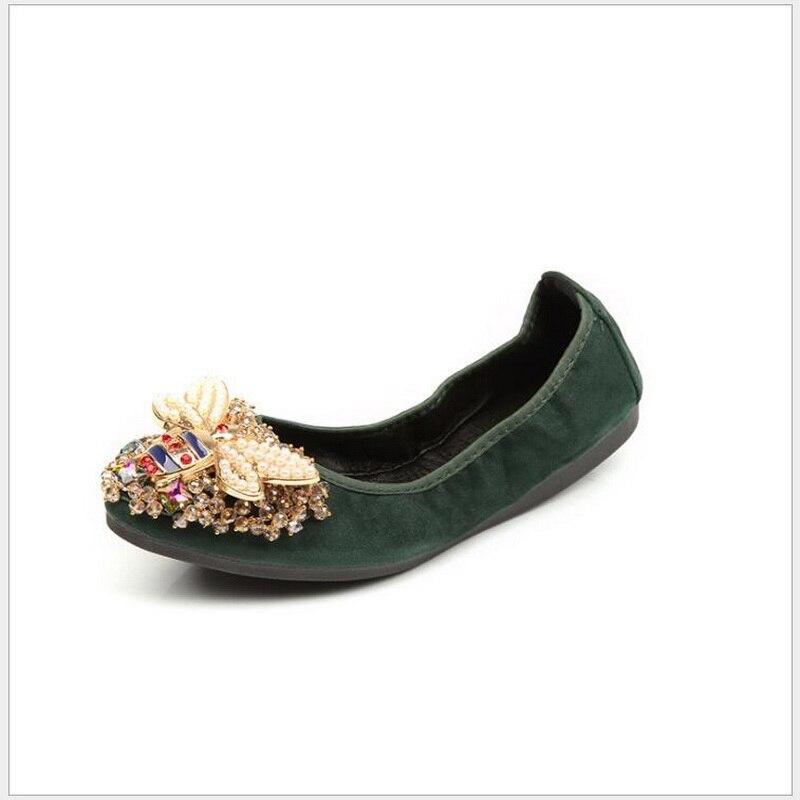 Chaussures Noir Dame Élégant Mode Carrière Très Dames flannelette 45 34 De Femme black Strass Confortable argent Doux Populaire Plat flannelette Plates or green Femmes xwTnAfIq