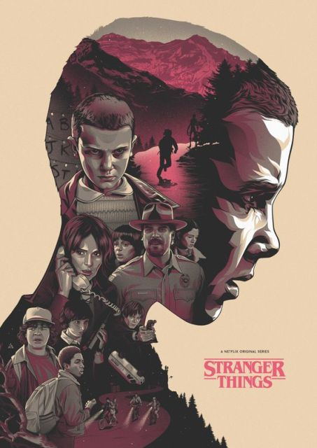 Stranger Things Movie Propaganda Vintage Retro Kraft Poster