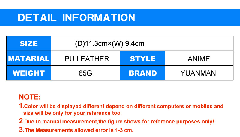 Dragon Ball Super Wallet Detail Information